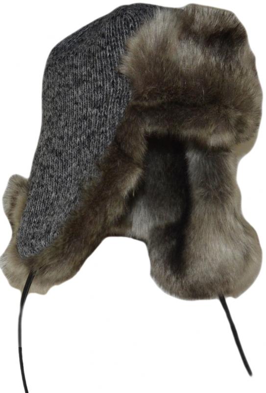 Зимние Ушанки Арт. УШ LTc (беж) цвет: серый мех цвет: бежевый фото