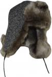 Зимние Ушанки УШ LTc (беж) цвет: серый мех цвет: бежевый фото
