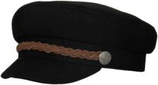 Картуз Картуз Black(K) цвет: чёрный,лента цвет:коричневый фото