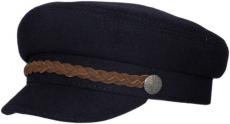 Картуз К Dnavi(К) цвет:тёмно-синий, лента коричневая фото