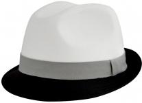 Шляпа (Трилби) Шл4 ЧБ цвет: чёрный, белый фото