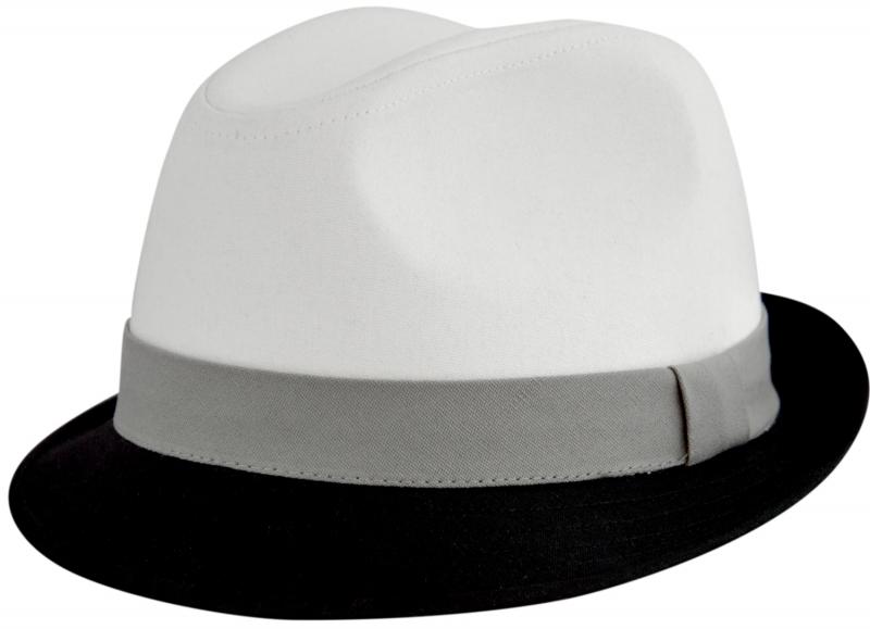 Шляпа (Трилби) Арт. Шл4 ЧБ цвет: чёрный, белый фото