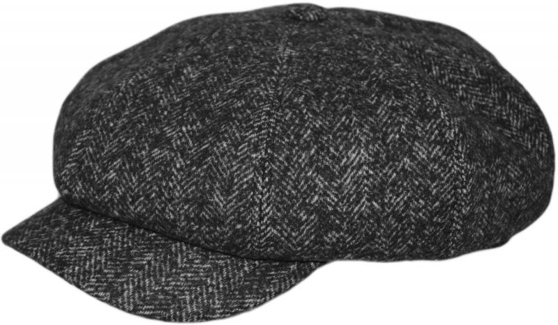 Кепка Хулиганка Арт. 805 Savona(ёлка) цвет: тёмно-серый фото