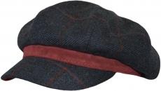 Кепи Venzano 806 Vinci-K(клетка) цвет:тёмно-синий,бордовый фото