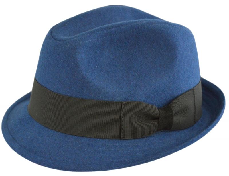 Шляпа (Трилби) Арт. Шл4 Indigo цвет: синий фото