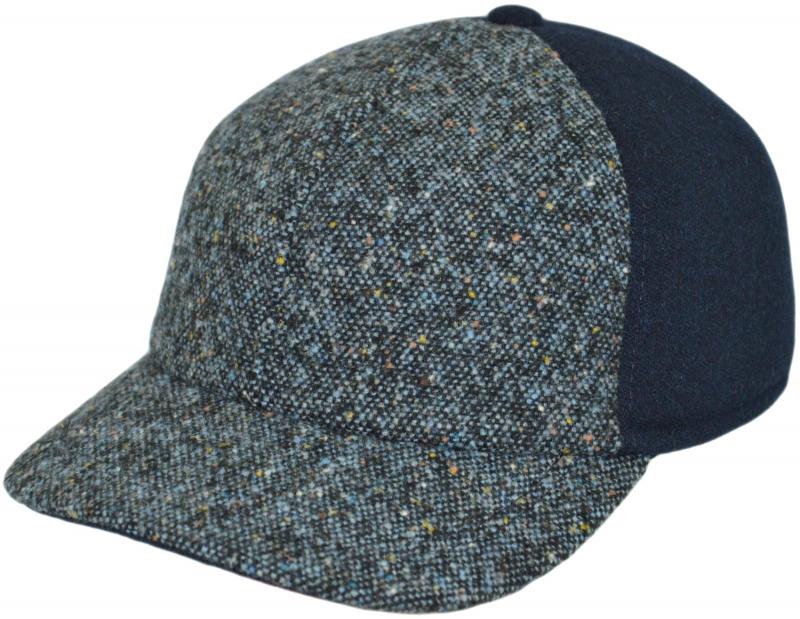 Бейсболка Арт. Б18 A2г-K Цвет:голубой(твид), синий фото