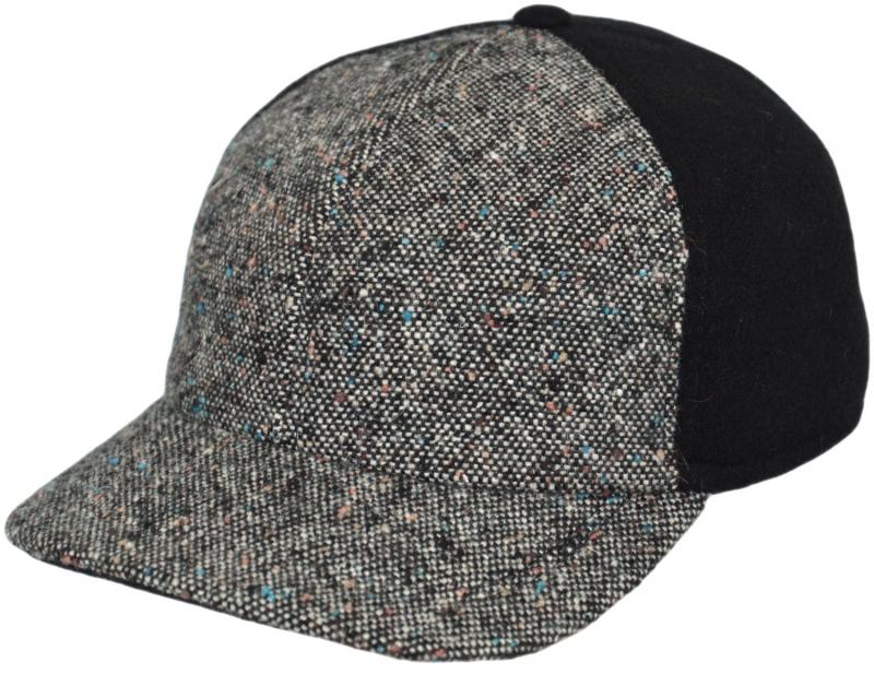 Бейсболка Арт. Б18 A2c-K Цвет:серый(твид), чёрный фото