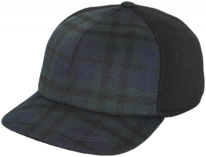 Бейсболка Арт. Б18 SC9-Ч цвет:синий и тёмно-зелёный(клетка) фото