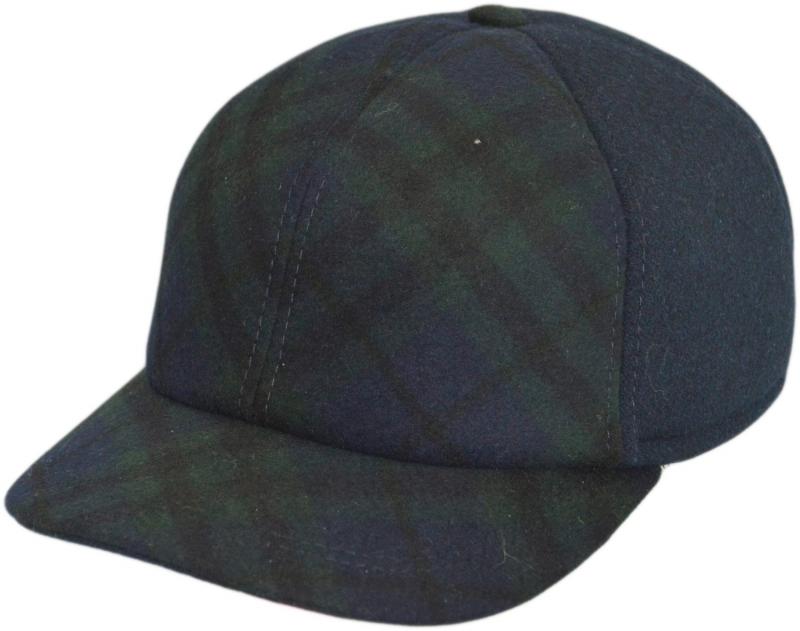 Бейсболка Арт. Б18 SC9-D цвет:синий и тёмно-зелёный(клетка) фото