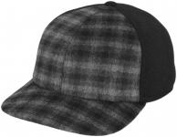 Бейсболка Б18 Клсер-К цвет:тёмно-серый (клетка),чёрный фото