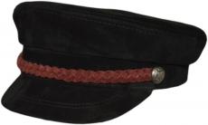 Картуз К ЗМЧ-Б цвет: чёрный , косичка бордовая фото