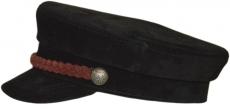 Картуз Арт. К ЗМЧ-Б цвет: чёрный , косичка бордовая фото