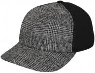 Бейсболка Б18 MZ-K цвет:серый(клектка),чёрный фото