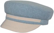 Картуз с лаком К2 Fendy Blu цвет: серо-голубой фото