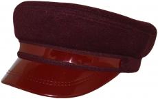 Картуз с лаком К2 IR-Vino цвет: вишнёвый фото