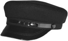 Картуз с лаком К2 ЧN цвет: чёрный фото