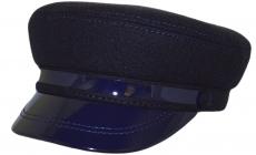Картуз с лаком К2 IRт.син: тёмно-синий фото