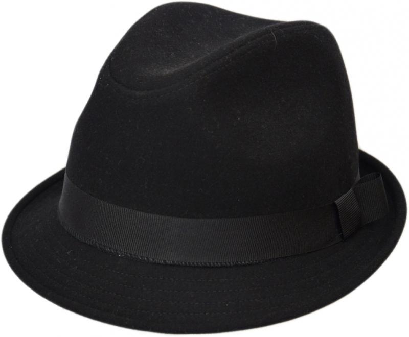 Шляпа (Трилби) Арт. ШЛ4 Black цвет: чёрный фото